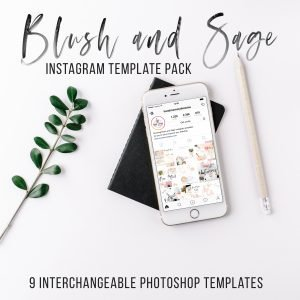 blush and sage instagram template